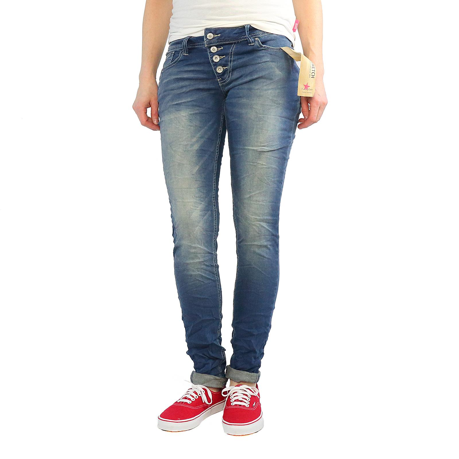 buena vista malibu skinny jeans damen hose farbe middle. Black Bedroom Furniture Sets. Home Design Ideas